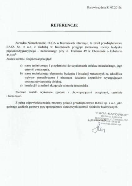 FUGA - referencje