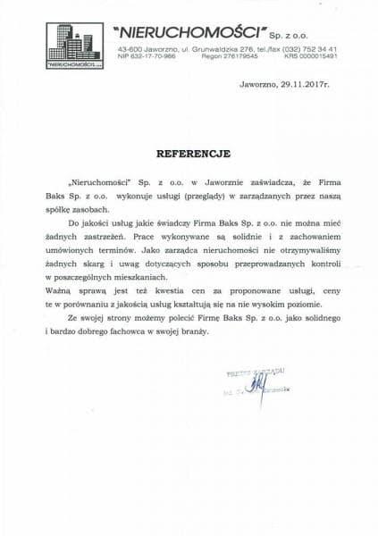 Nieruchomości 2017 - referencje
