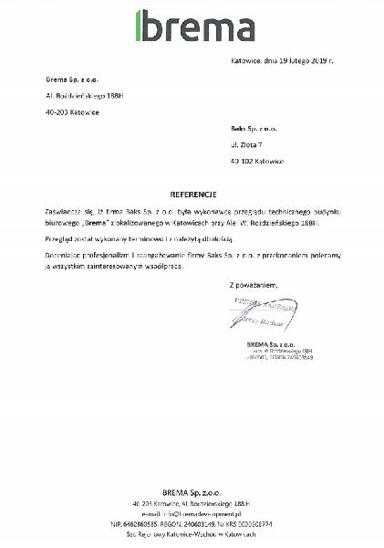 referencje brema 20190219