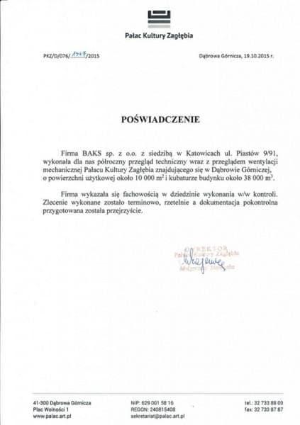 DG Pałac - referencje