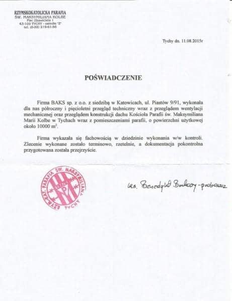 Przegląd techniczny w Katowicach - referencja 00031