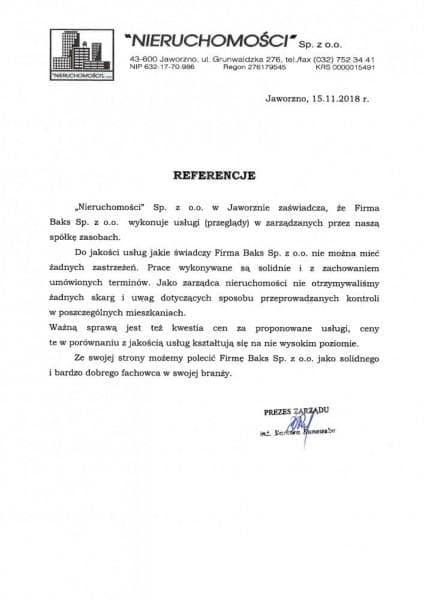 referencje Nieruchomosci 2018