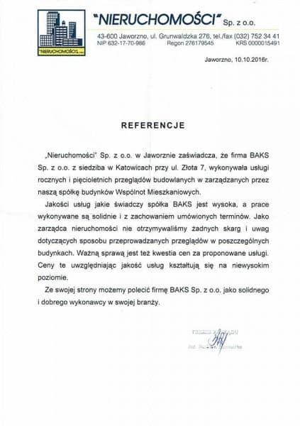 Nieruchomości - referencje