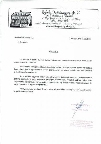SP24 Chorzów - referencje