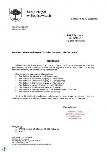 Urząd miejski w sośnicowicach referencje
